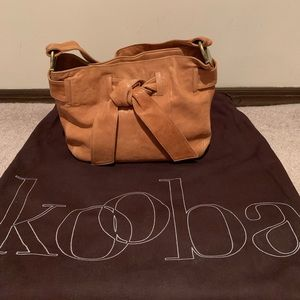 Kooba natural leather tan mini bag